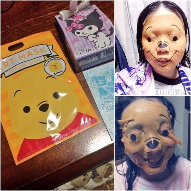 La pobre niña que quería ser Winnie the pooh.