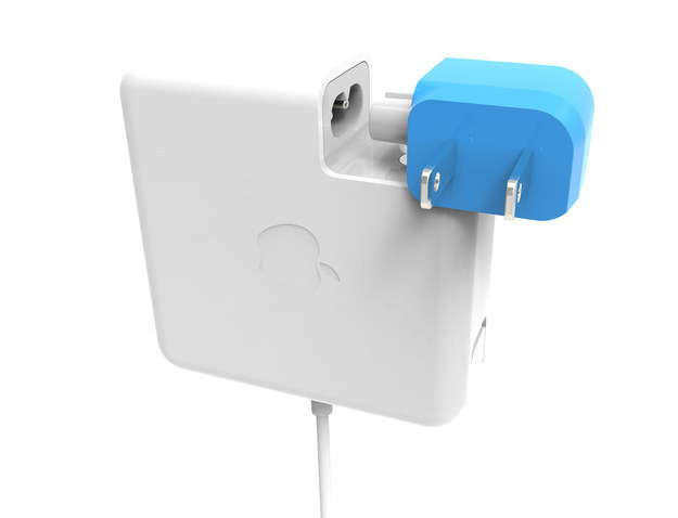 The Blockhead ($20 for one, $35 for two) is a side-facing plug that keeps the adapter close to the wall, so it can fit in tight spaces.