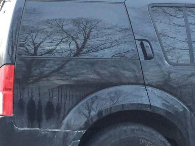 ¿Qué se refleja en esta camioneta?