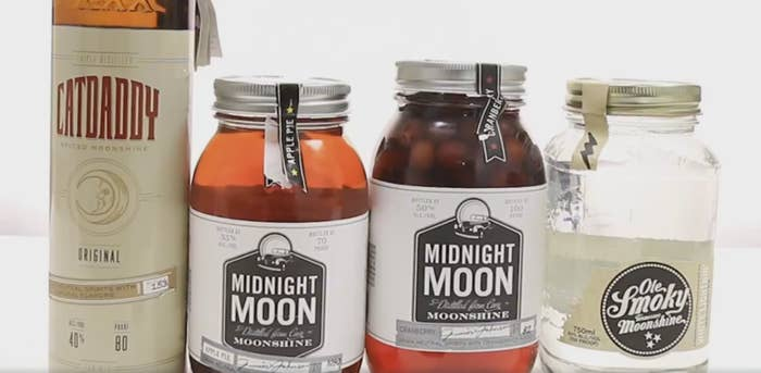 Moonshine is the American equivalent of desi daru (country liquor). It's made with corn mash and is generally produced illicitly.