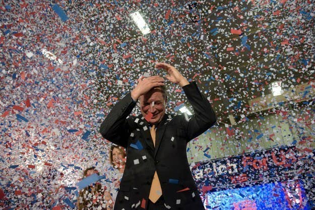 Kasich's party last night had some serious confetti, because there wasn't enough at a prior event. And oh boy, was it a lot of confetti. Lots and lots of confetti.