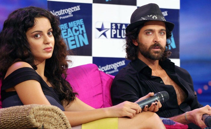 At this point, Hrithik was happily married to Sussanne Khan while The Times of India reported that Kangana ended a year-long relationship with Shekhar Suman's son and actor, Adhyayan Suman.