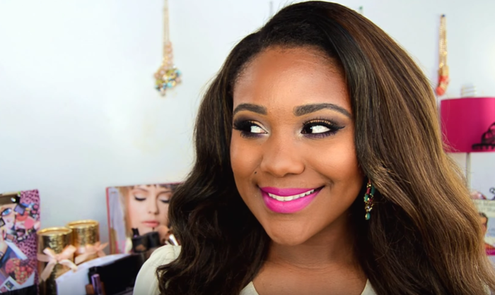 """Blogger Rose Kimberly paired it with Rimmel's """"Indian Pink"""" lipliner."""