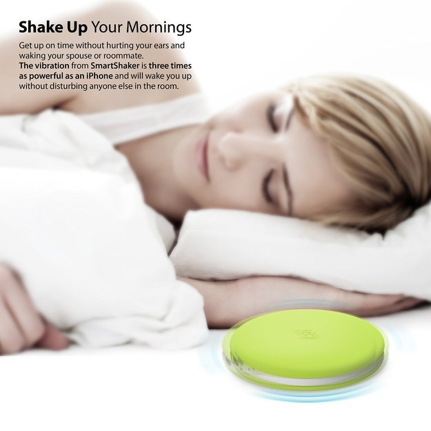 A vibrating alarm clock that you won't want to fling across the room.
