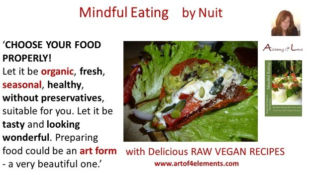 Interview with Nuit about Mindfulness Training, Mindful Eating Book, mindful eating quote