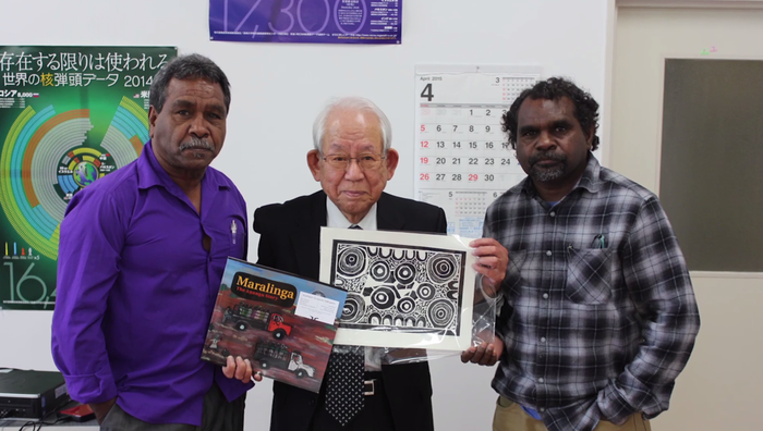 Now a delegation of five artists and elders from Yalata, who are descendants of those who were subjected to radioactive exposure at Maralinga, are fundraising to travel to Nagasaki and officially present the sculpture to the Japanese people on the behalf of Australia.