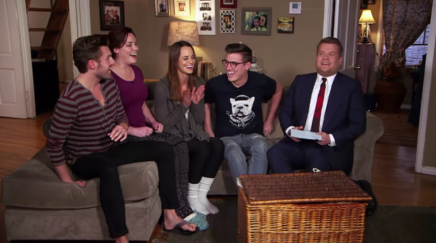 To celebrate his one-year anniversary with The Late Late Show, James Corden filmed the show from a fan's house.