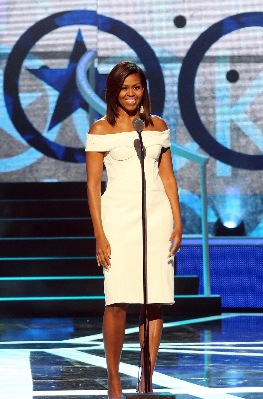 Michelle Obama Dress Trumpet Style