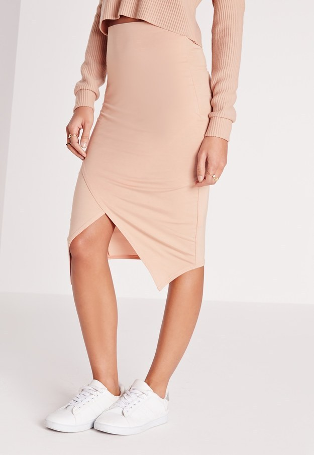 This subtly sexy nude wrap skirt.