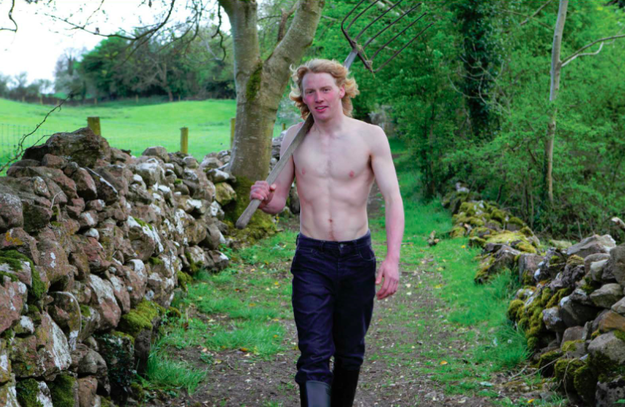 How about shirtless Irish farmers walking around with rakes over their shoulders?