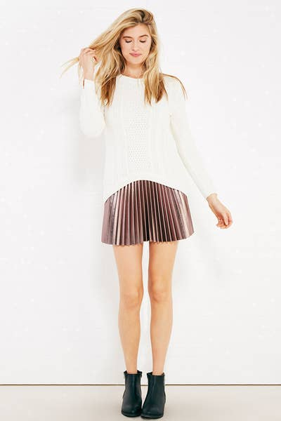 2342c1ecab http   www.wetseal.com metallic-coating-pleated-skater-skirt -51973063.html dwvar 51973063 color 39