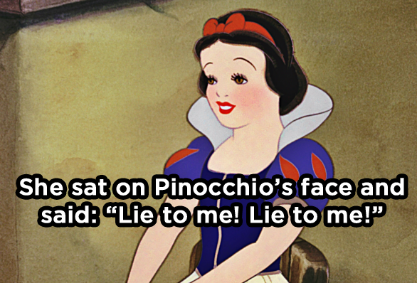 Why did Snow White get kicked out of Disneyland?