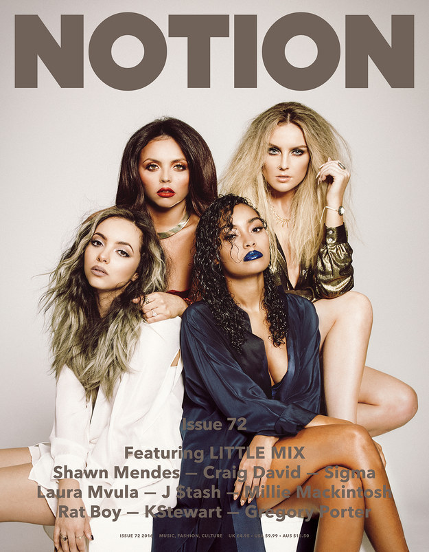 Our favourite singing ladies Little Mix appear on the latest cover of Notion magazine.