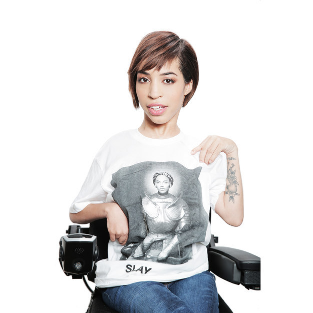 Jillian Mercado, a model with muscular dystrophy, is the face of Beyoncé's new merchandise line.