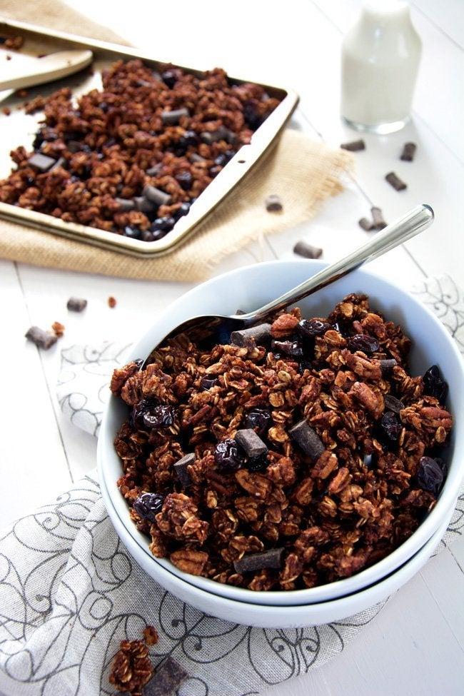 granola de cereza