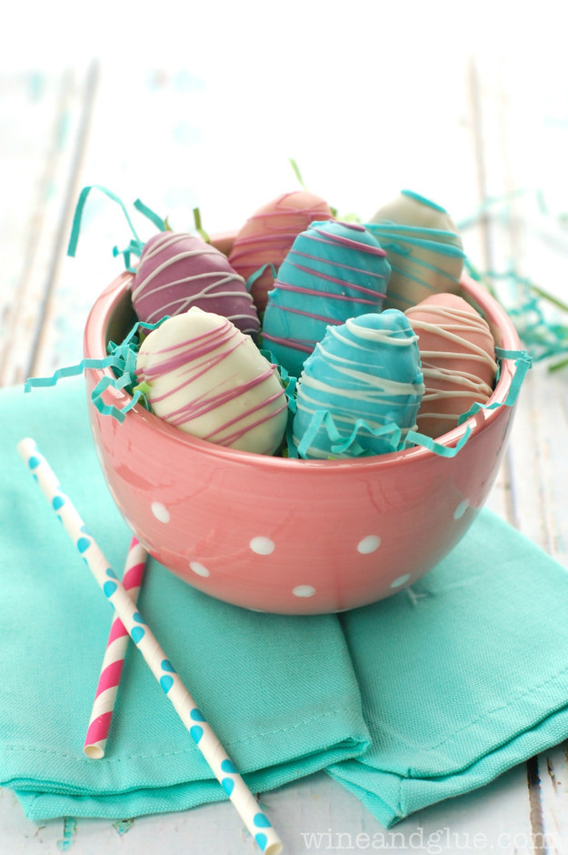 Easter Egg Cookie Dough Truffles.