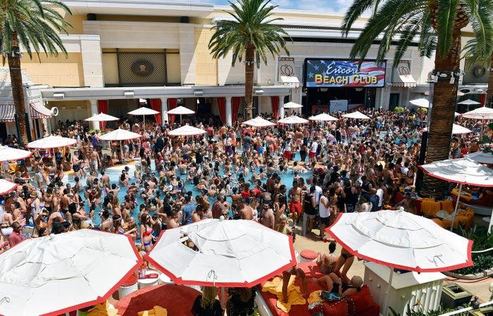 Party time at the Encore Beach Club at Wynn Las Vegas.