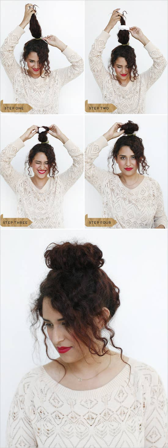 19 Naturally Curly Hairstyles For When You\'re Already Running Late