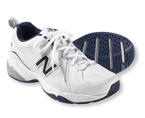 White New Balances.