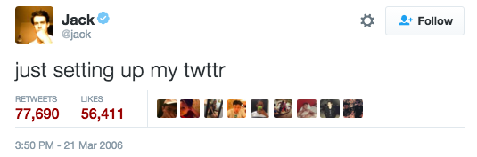 10 years ago, TO THE DAY, the first ever tweet was sent out...