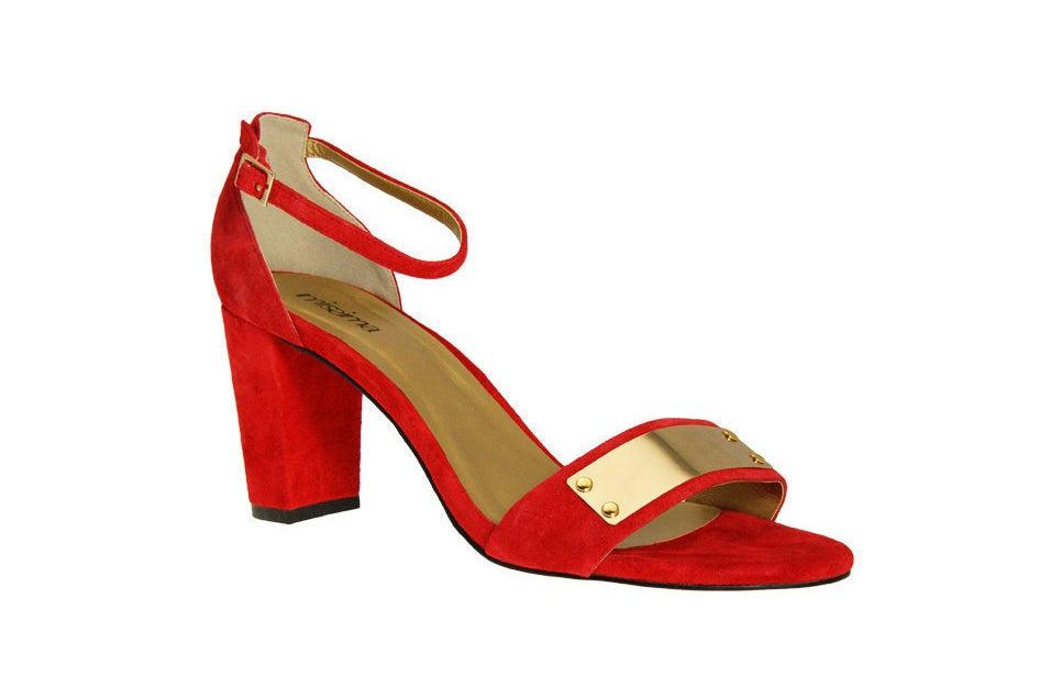 Red Block Heel, £79.99