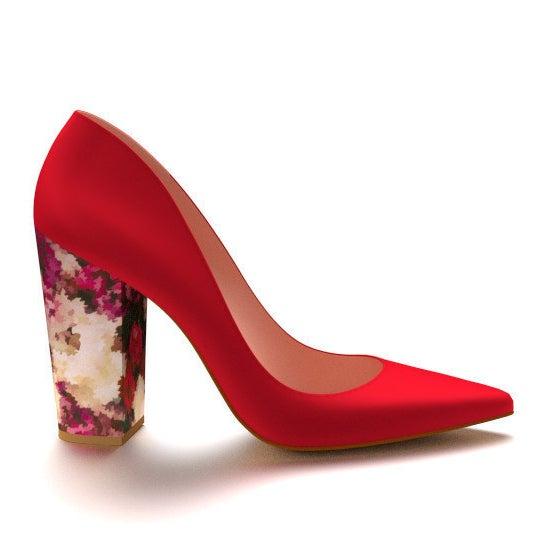 Red Silk Heels, £193