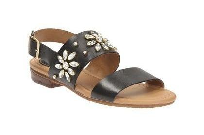 Black Leather Sandals, £50.00