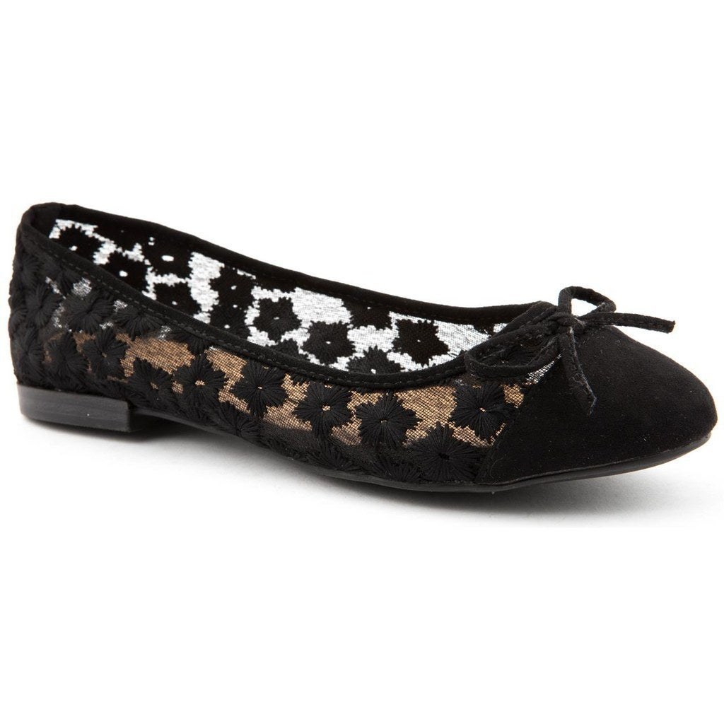 Emilio Luca X Flower Mesh Ballerina Shoes, £24.00