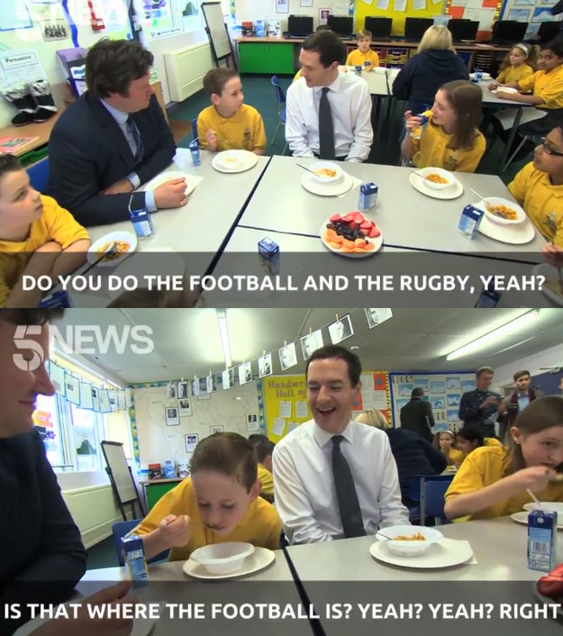 British politicians meeting schoolchildren: