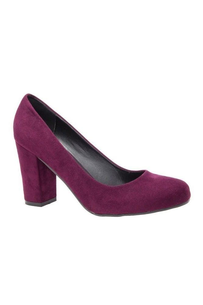 Block Heel Court Shoe Wine, £39.00