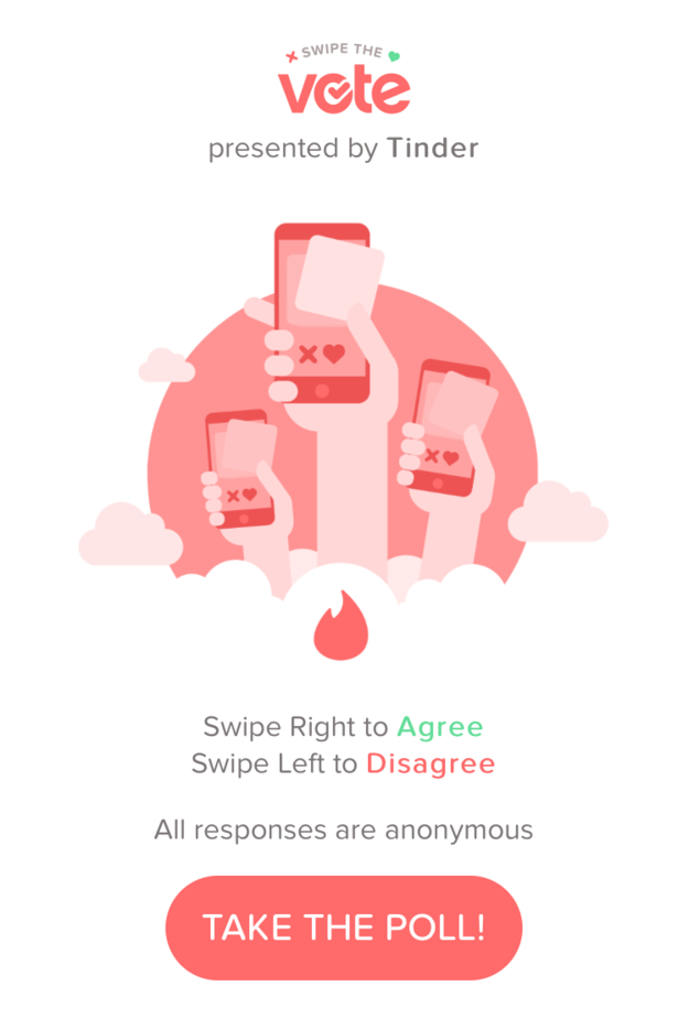 Starting today, Tinder is getting political.