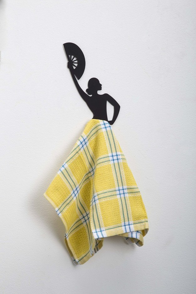 A wall hook that turns any dish towel into a flamenco dancer's skirt.