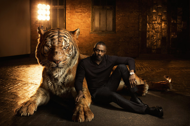 We've known for a while now that Idris Elba is going to be terrifyingly powerful and scary as Shere Khan in the new live-action version of The Jungle Book.