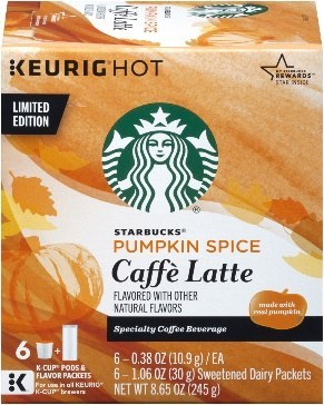 Image result for pumpkin spice latte k cups