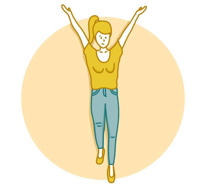 C'est un bon exercice pour les bras, et en plus ça empêche l'affaissement!