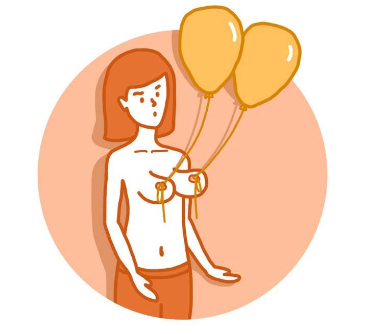 Ça peut paraître ridicule, mais il n'y a rien de pire qu'un sein qui pend de façon naturelle.