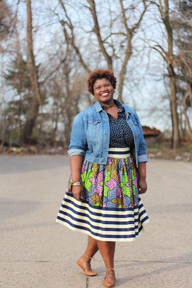 a5de966ce6c Blog  Grown and Curvy WomanInstagram   grownandcurvywoman quot Use your denim  jacket to pull