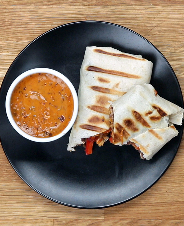 7-Minute Grilled Burritos