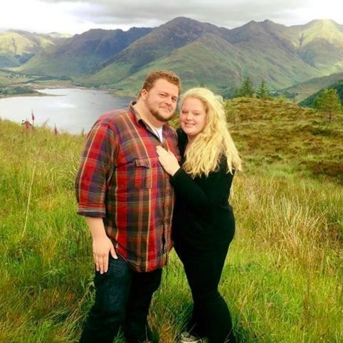 Alexander Pincsowski and his fiance Cameron Cain