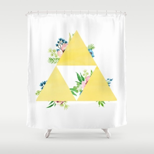 A lovely Triforce shower curtain