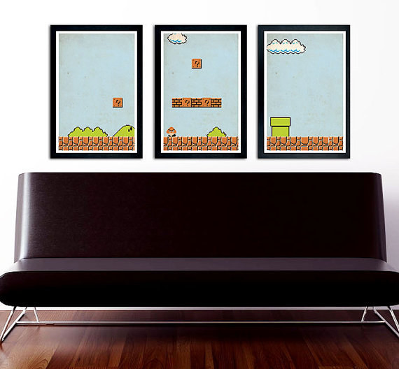 This classic wall art trio