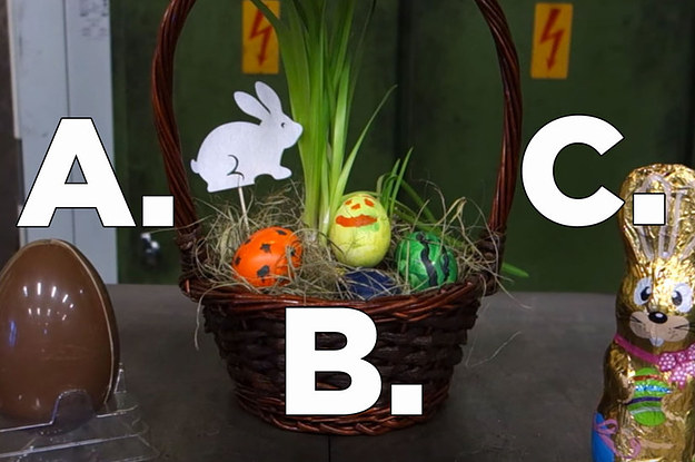 This video of an easter basket being crushed is oddly mesmerizing negle Images