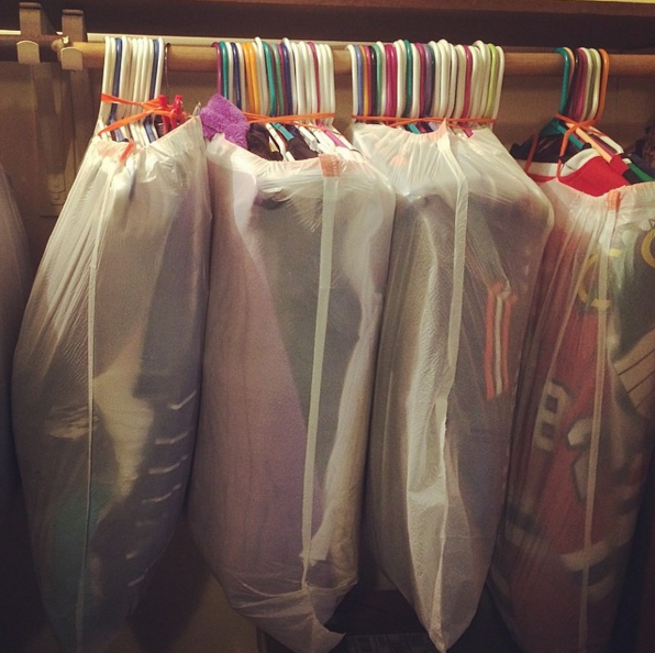 This also makes unpacking your closet the easiest thing ever.