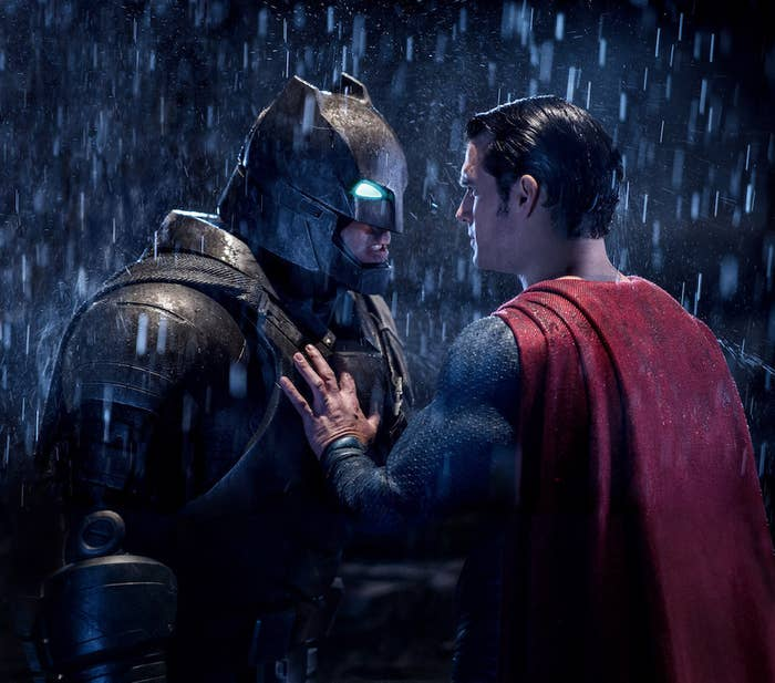 Ben Affleck and Henry Cavill in Batman v Superman: Dawn of Justice.