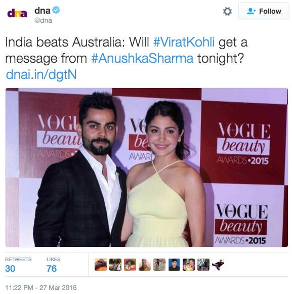 Virat Kohli and Anushka Sharma used to date before breaking up earlier this year.