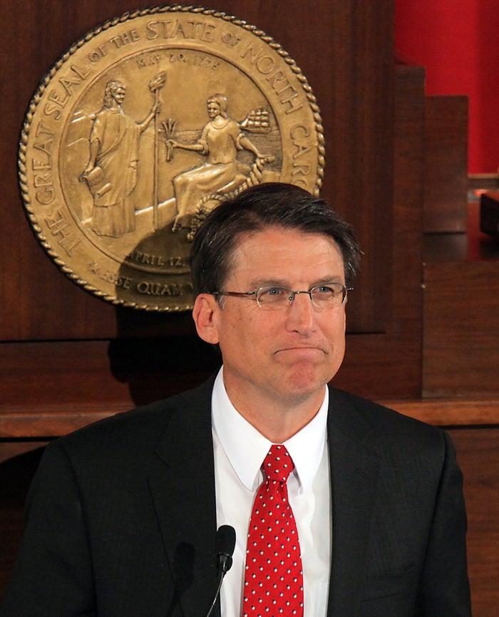 North Carolina Gov. Pat McCrory