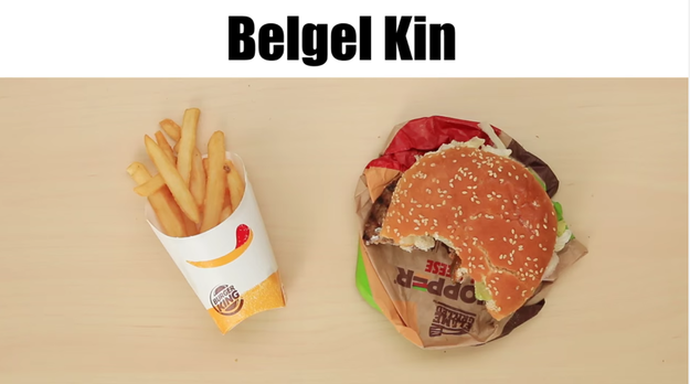 Burger King = Belgel Kin