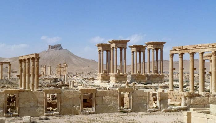 """""""We could have completely lost Palmyra,"""" Syrian antiquities chief Maamoun Abdulkarim told AFP. """"The joy I feel is indescribable."""""""