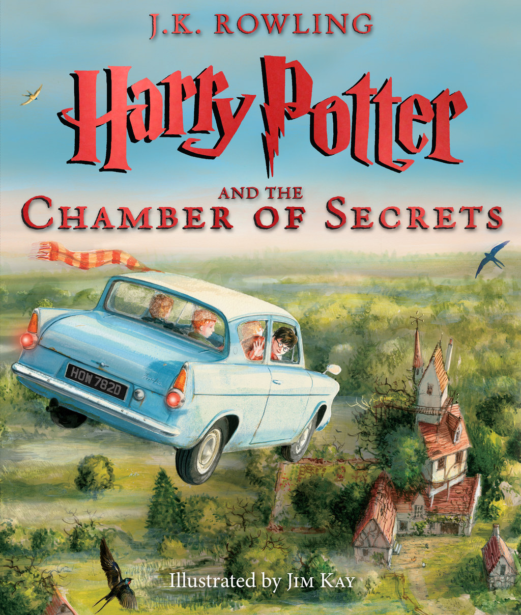 """Here's The Book Cover For The Fully Illustrated """"Harry Potter And The Chamber Of Secrets"""""""