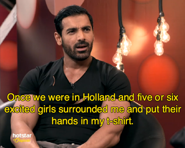In an interview with Malishka last week, John Abraham recounted the most BIZARRE fan interaction of all time.